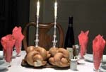 a traditional sabbath table setting