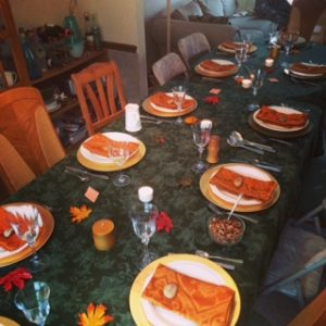 table thanksgiving